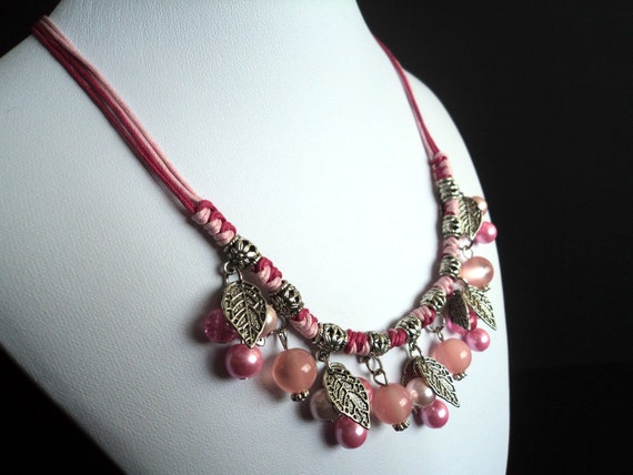 Pink Bohemian Necklace