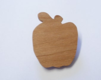 apple brooch wood scroll saw