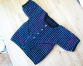 Optic striped black & berry baby surprise jacket