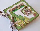Mini Album Camping Fishing Backpacking - OOAK Scrapbook Chipboard 6x6