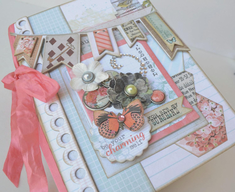Adorable mini album scrapbook chipboard photo
