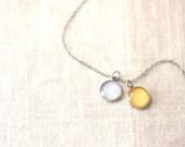 Customizable Cluster Color Necklace - 2 Plain, Cluster