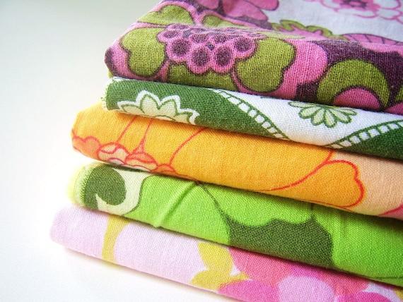 20% COUPONCODE DISCOUNT-Retro fabric bundle 5 pieces