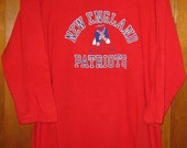 vintage 1970s New England Patriots NFL AFL shirt Champion brand XL