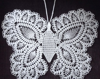 Gorgeous Crocheted Butterfly Doily
