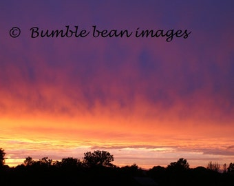 Amazing Sunset. Photographic print.  15'' x 10'' Printed on crystal archive paper. Home Decoration. Matt or Gloss.