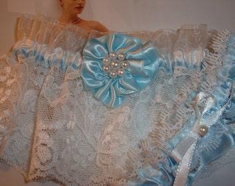 Something Blue, Bridal Garters, Wedding Accessories, Lace Garters.