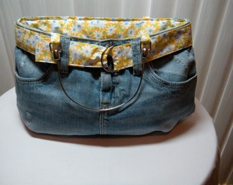 Denim Jean Skirt Purse - CLEARANCE SALE
