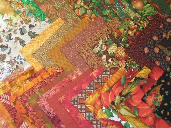 "Autumn Fabric Charm Pack 6"" Squares"