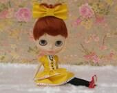 Victorian yellow dress