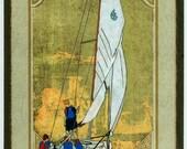 Briarwood Sailing Students in Buzzards Bay Print 8.5x11
