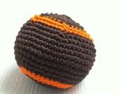 Colorful Rainbow HACKY SACK  Juggling ball Cat Toy Bean Bag Foot Bag Brown Orange