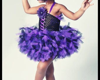 Purple And Black Tutu Dress, Petti Tutu Dress, Zebra Tutu Dress, Kids Birthday tutus, Pageant Tutus, Kids Photo Props
