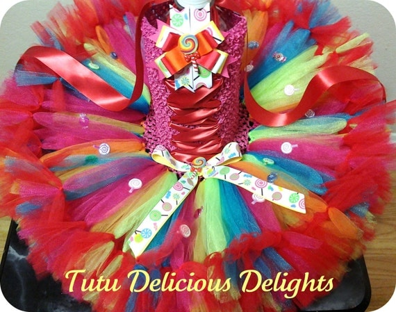 Lollipop Overload Petti Tutu Dress~ Candy Land Outfit~ Pageant Dress~ Photo Prop~ Kids Toddler Birthday Tutu