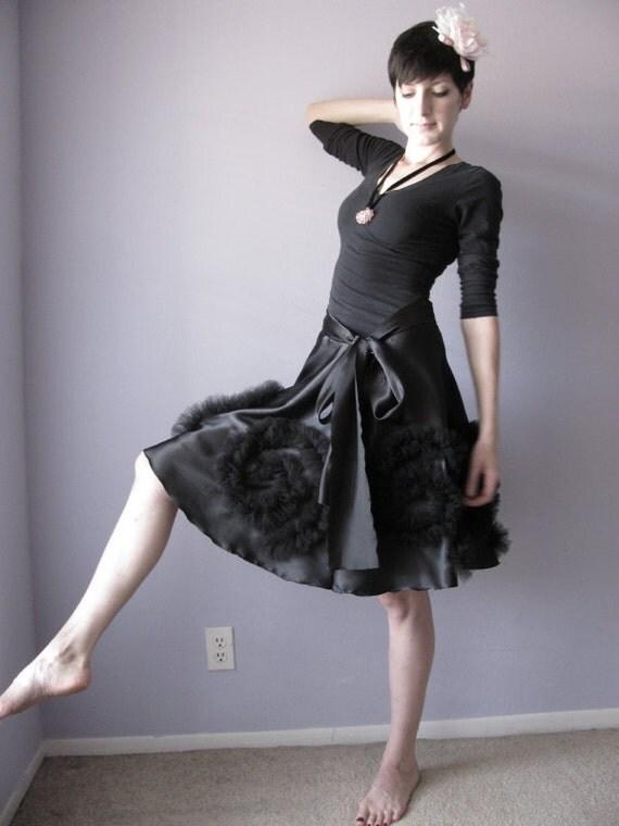 BLACK MAGIC - HiddenRoom  black satin skirt