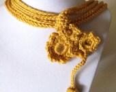 Flower Handmade Crochet Necklace