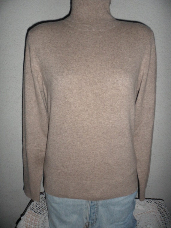 vintage 100% cashmere sweater large turtleneck longsleves