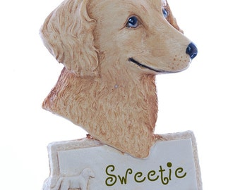 Golden Retriever  Personalized Christmas Ornament   Free Personalization   Free Gift Box (d91)