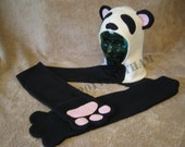 Panda Scoodie with Paw Mittens