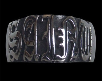 Stainless Steel Saint Ring - Free Re-Size/Shipping