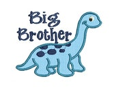 Big Brother Embroidery Design, Dinosaur Applique, Embroidery Applique (507) Instant Download