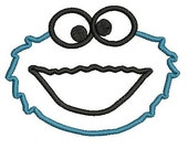 Cookie Monster Applique, Embroidery Design, Cookie Monster Embroidery, Applique Embroidery, Sesame Street Design (25) Instant Download