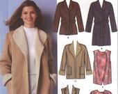 2003 UNCUT Simplicity Plus Size Coat Pattern