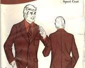 1971 Vintage UNCUT Sew Knit-N-Strecth Men's Sports Coat Pattern
