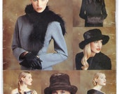 2000 UNCUT Vogue Hat, Scarf, Muff and Shawl Accessories Pattern