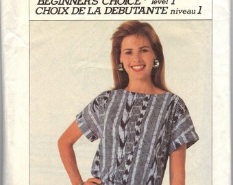 1986 CUT Simplicity Beginners Choice Plus Size Pattern