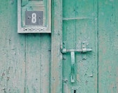 Door Keyhole Photograph - Fine Art Travel Photography - France Weathered Door - 8x10 - Number 8