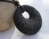 Black Lava 40mm Agogo Pendant