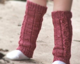 PDF Pattern - Hugs & Kisses Baby/Child Knitted Legwarmers - Instant Download