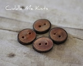 Four Tree Bark Buttons, More Available