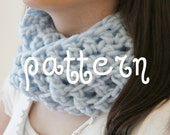 Crochet PATTERN Neckwarmer Cowl Loop Scarf