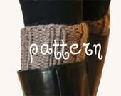 Boot Cuffs Pattern Knit in Chunky Ribbed Stitch