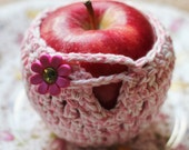 Crochet Apple Jacket in Pink, Cuddle Your Fruit