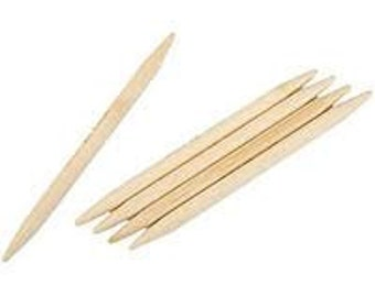 Double Pointed Knitting Needles, Five Bamboo US Size 10.5, 6.5 mm, 8 inch length