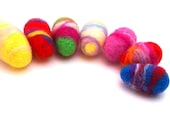 Seven eggs needle felted tie dyed look