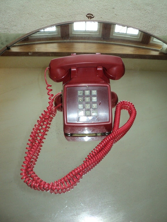 RED TOUCHTONE TELEPHONE