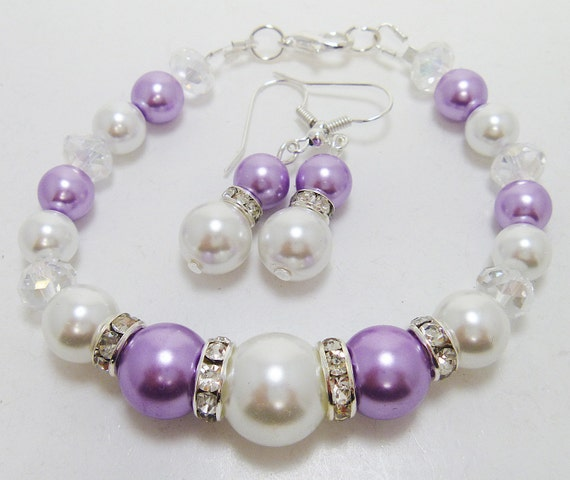 CLEARANCE Beaded Pearl Jewelry Set Bridal jewelry wedding
