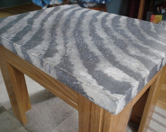 Concrete zebra print table top (only top)