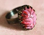 tiny halloween zombie brain adjustable ring