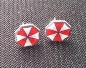 Umbrella Corporation Earrings - Resident Evil Video Game Plastic Studs