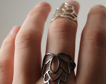 Eastern Flower Ring - Sterling Silver