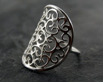 Venetian Ring - Sterling SIlver