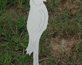 cockatiel bird garden stake