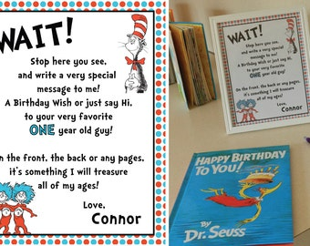 Dr. Suess Birthday Party Book Sign