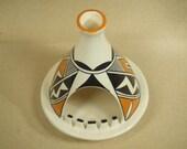 Native American Indian ashtray - Acoma teepee ash tray