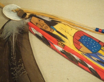 Carved wood feather - native american indian art - Shar Frazier